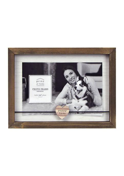 Sentiment Frame- Wood Block Wire, Puppy Love