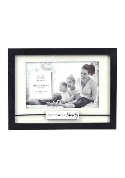 New View Sentiment Frame- Wood Block Wire, Love