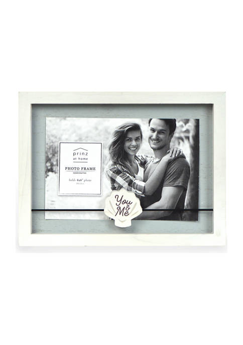 Sentiment Frame- Wood Block Wire, You & Me