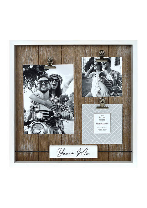 New View Sentiment Frame- Wood Block Wire Collage,