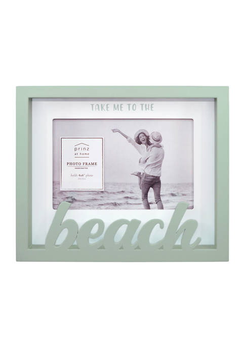 New View Sentiment Frame- Boxed Word Frame, Beach