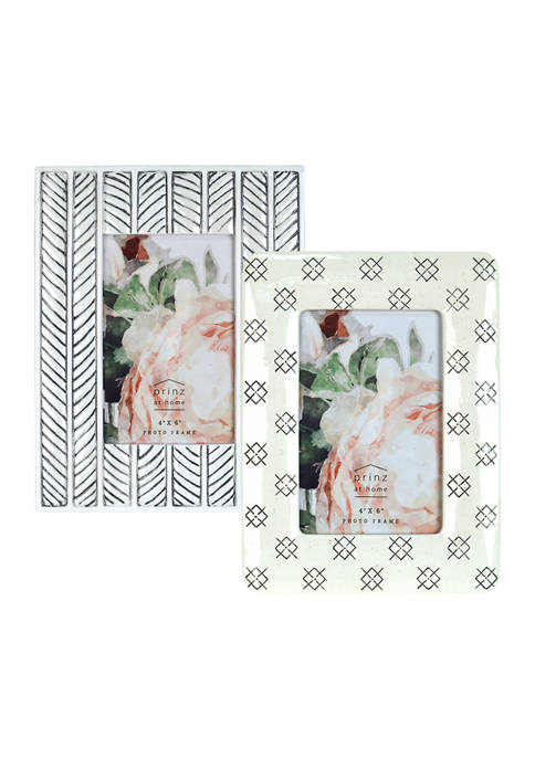 Modern Tonal Photo Frame Set (two 4 in x 6 in photos)