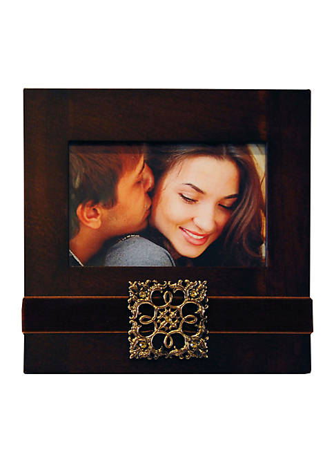 New View Crystal Glamour Ribbon 6x4 Frame