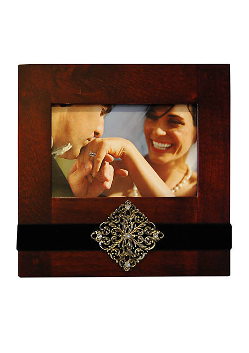 New View Crystal Glamor Red Ribbon 6x4 Frame