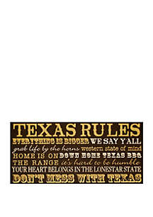 Texas Rules Plaque