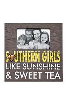 Southern Girls, Like Sunshine & Sweet Tea Wood Plaque 4x6 Photo Frame