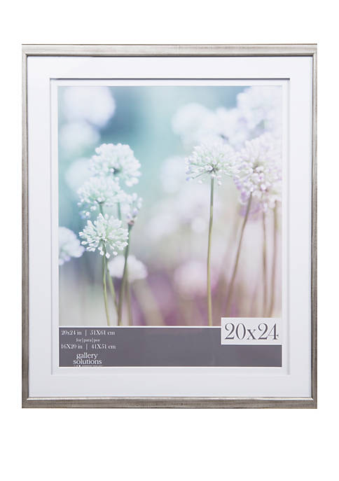 Gallery Solutions Wall Frame with Double White Mat