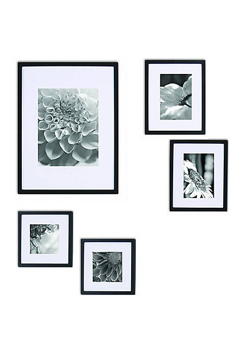 Wood Photo Frame Gallery Wall Kit 5-Piece Set