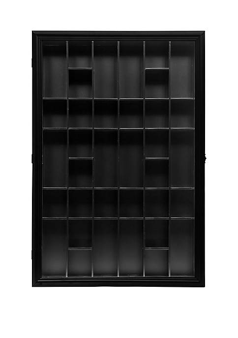 Gallery Solutions Shot Glass Display Case