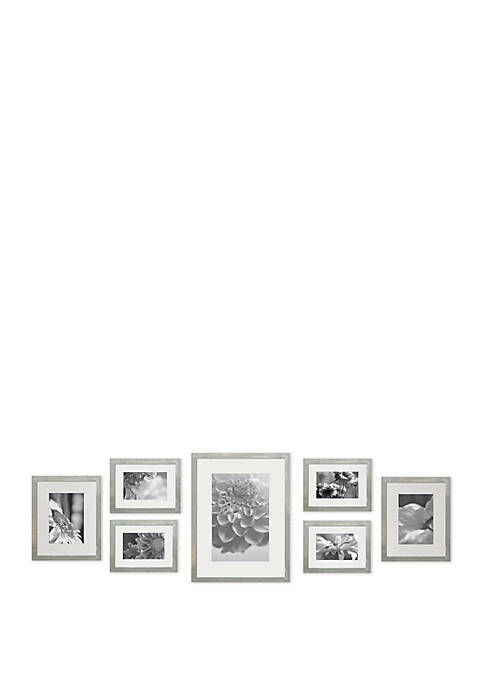 7-Piece Greywash Photo Frame Wall Gallery