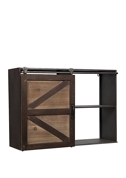 Gallery Solutions Farmhouse Sliding Barn Door Storage Cabinet