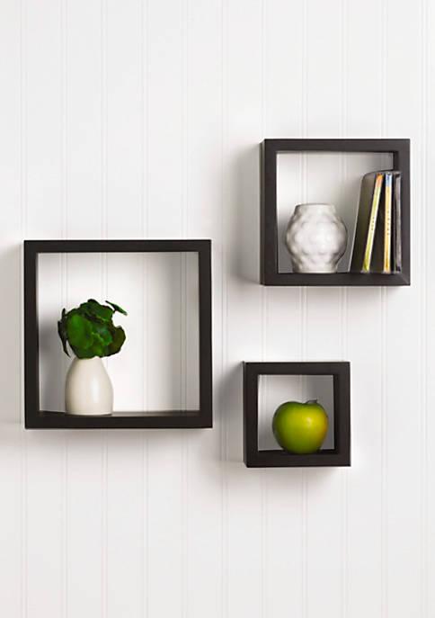 Melannco International Espresso Square Cubes Set of 3