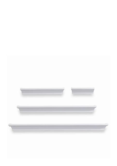 Melannco International Classic White Wall Wood Shelves Set