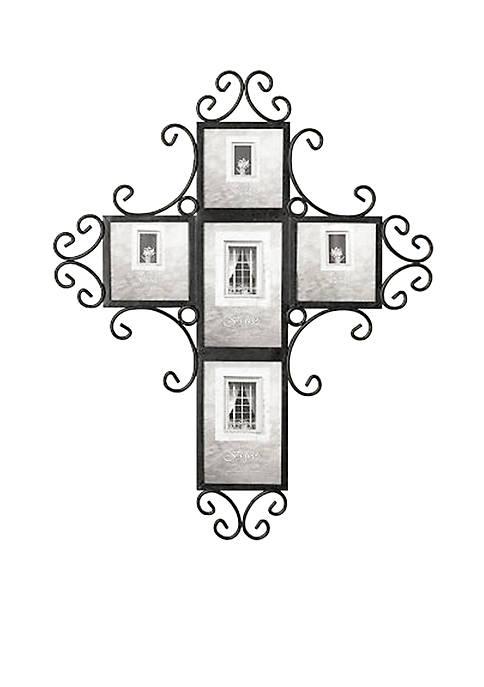 Fetco Home Dcor 5 Opening Cross Collage Frame Belk