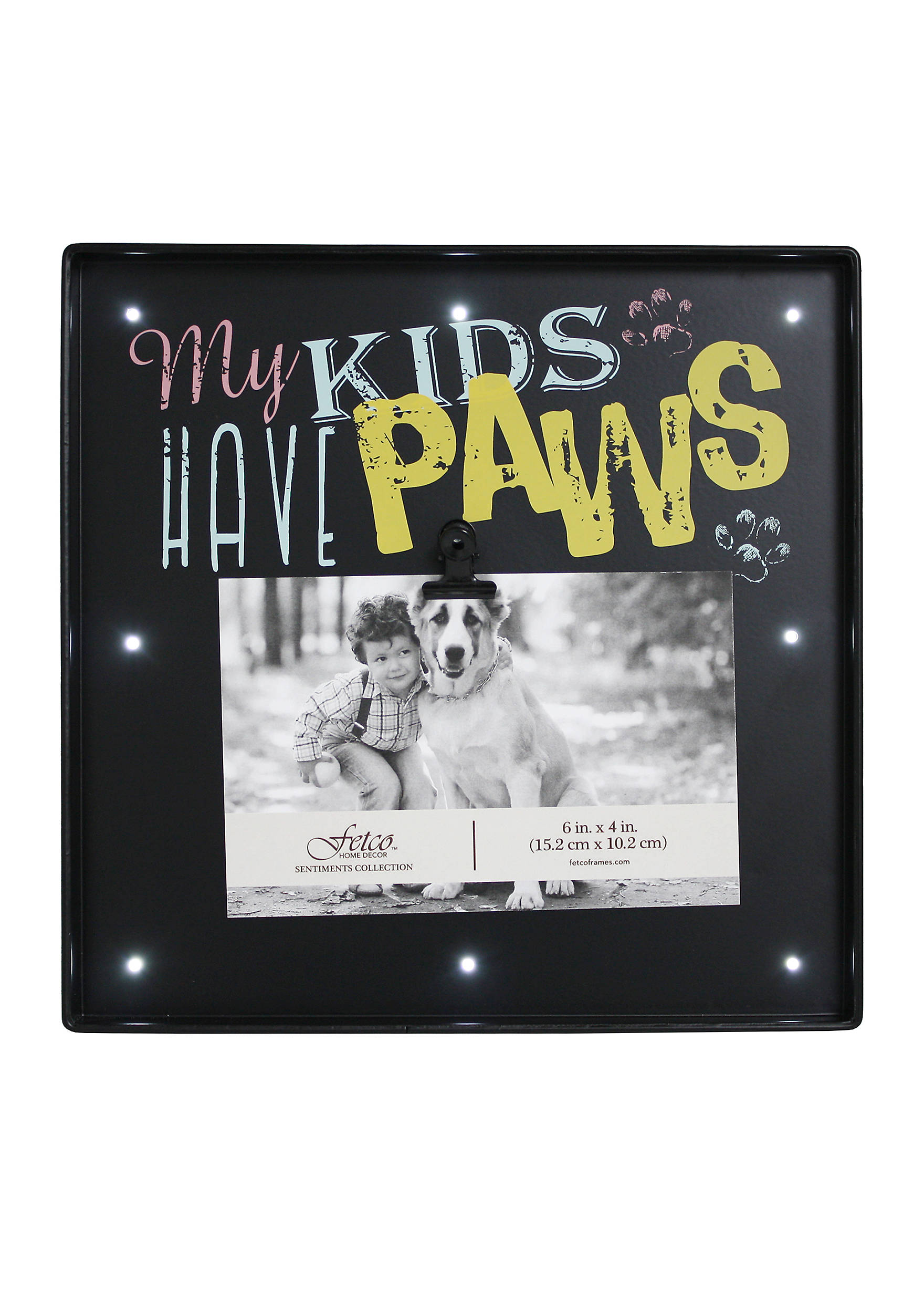 Fetco home dcor my kids have paws 4x6 frame belk images jeuxipadfo Gallery