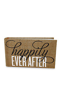 Fetco Home Décor Burlap Happily Ever After 1 Up Photo Album Belk