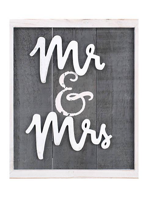 Malden Mr. & Mrs. Box Sign