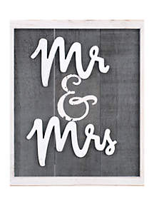 Mr. & Mrs. Box Sign