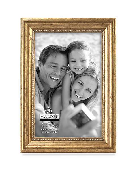 Gold Beaded 4x6 Frame