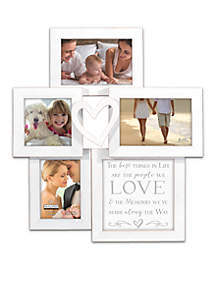 Love Wood Step Collage Frame