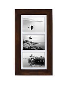 Manhattan Matted Walnut Collage Frame