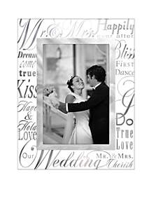 Malden Mr. & Mrs. 4x6 Glass Frame