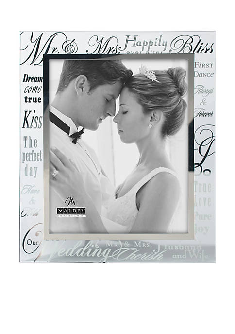 Malden Wedding Sentiment Glass 8x10 Frame