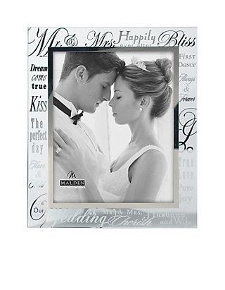 Malden Wedding Sentiment Glass 8x10 Frame Belk
