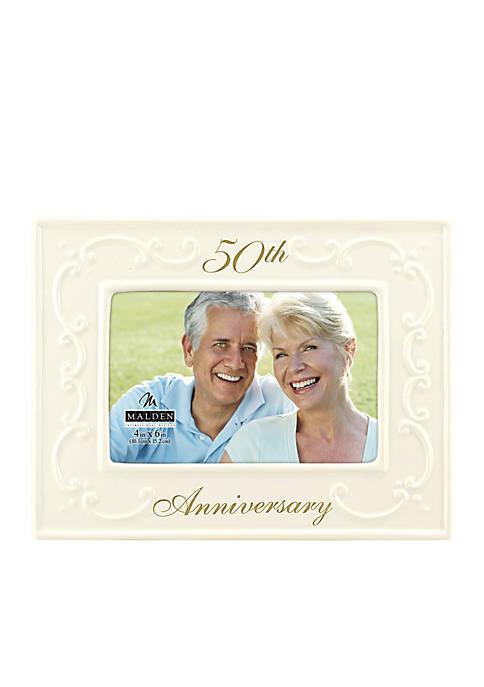 Malden 50th Wedding Anniversary 4x6 Frame   belk