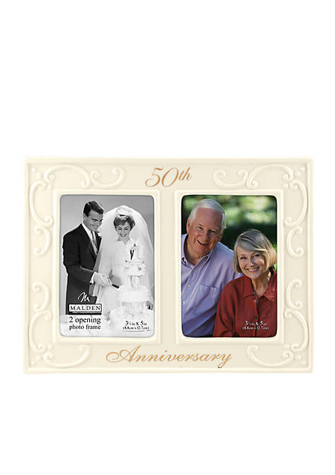Malden 50th Wedding Anniversary 2 Up 3.5-in. x
