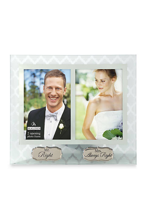 Mr. Right and Mrs. Always Right 4x6 Frame