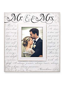 Mr. & Mrs. Corinthians 5x7 Frame