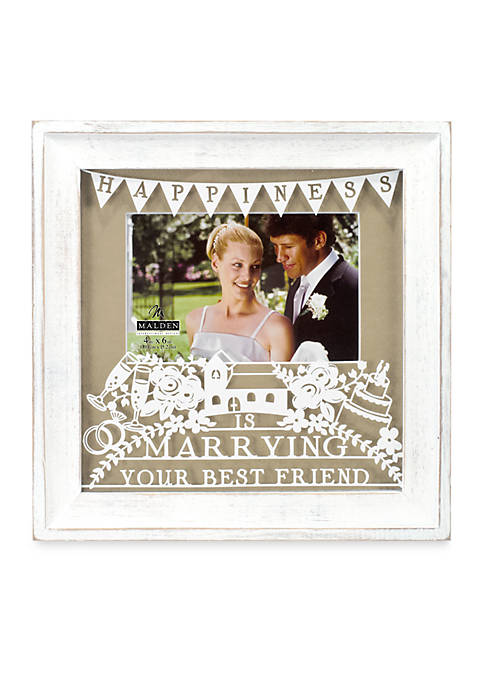 Malden Marrying Best Friend Burlap 4x6 Frame | belk