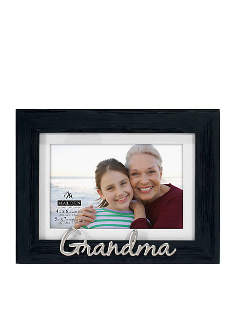 Malden Grandma Distressed Black Frame