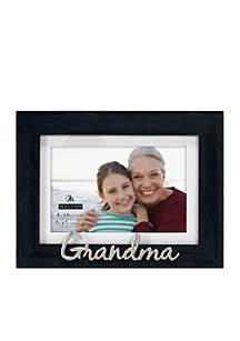 Grandma Distressed Black Frame