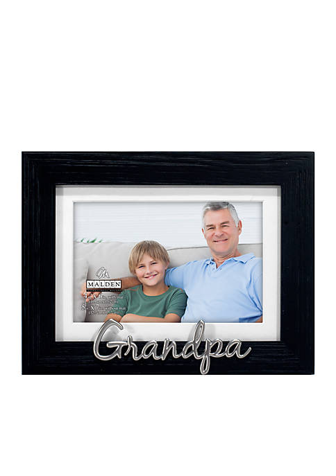 Malden Grandpa Distressed Black Frame