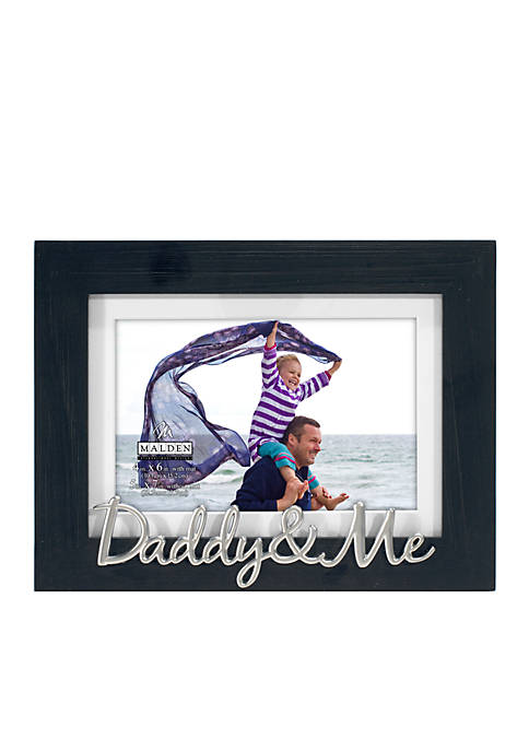 Malden Daddy and Me Distressed Black Frame