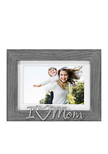 Distressed Sentiments Gray 'I Love Mom' 4-in. x 6-in. Frame