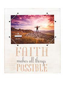 Faith White Snap Band Frame