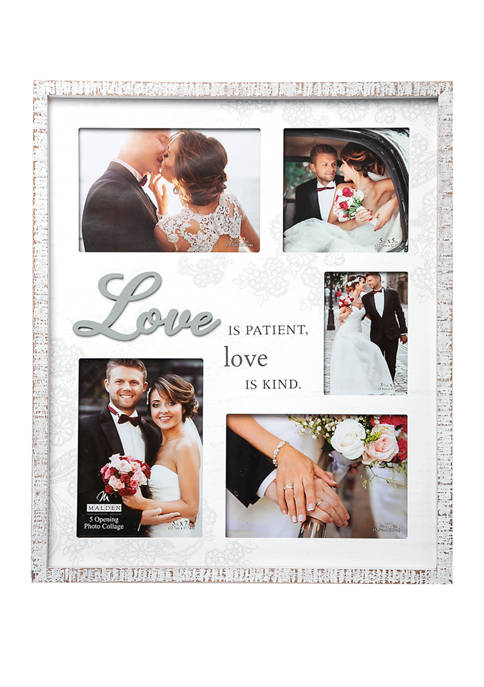 Malden 5 Option Love Collage With Rustic Border