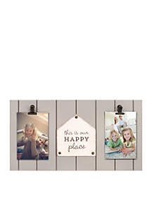 Happy Place Two Clip Frame