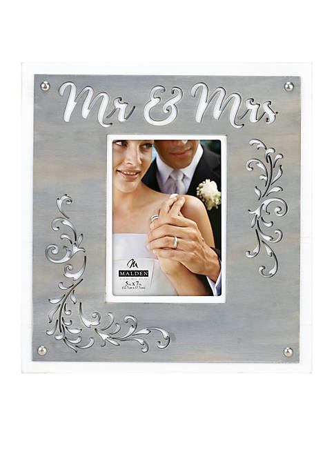 Malden Mr. AND Mrs. EST. 2018 Galvanized Frame