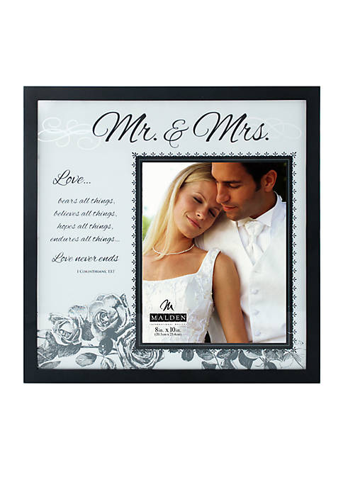 Malden Mr. & Mrs. 8x10 Frame