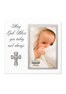 May God Bless You Baby Frame
