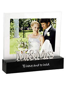 Malden Mr. & Mrs. 5x7 Desktop Frame