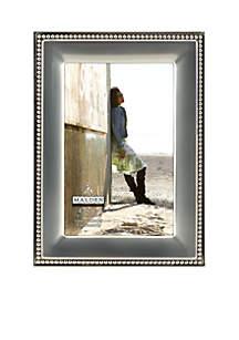 Silver Metal Bead 4x6 Frame