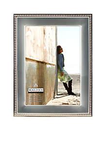 Silver Metal Bead 5x7 Frame