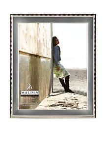 Silver Metal Bead 8x10 Frame