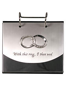 Malden Wedding Band 4x6 Flip Photo Album