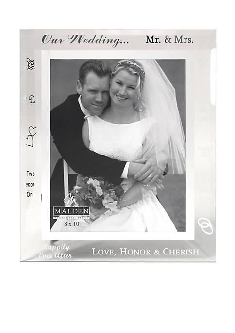 Wedding Words Glass 8x10 Frame